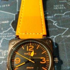 Relojes: RELOJ BELL & ROSS NARANJA Y NEGRO A ESTRENAR. Lote 294371798