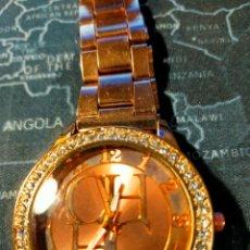 Relojes: RELOJ DE PULSERA CH EN COLOR ORO ROSADO A ESTRENAR. Lote 294373283