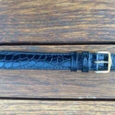 Orologi: CORREA PIEL NEGRA MARCA HIRSCH 16MM MUY BUENA CALIDAD WATER RESISTANT. Lote 295348668