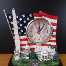 Relojes: RELOJ DE ESCRITORIO WASHINGTON DC (CASA BLANCA, CAPITOLIO, ETC). Lote 297092178