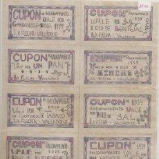 Reproducciones billetes y monedas: LA FLECHA VALLADOLID BONITA SERIE DE BILLETES. Lote 57949349