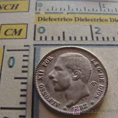 Reproducciones billetes y monedas: REPRODUCCIÓN PLATEADA. MONEDA ESPAÑOLA. 1882. ALFONSO XII. UNA PESETA. . Lote 7118248