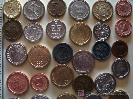 Reproducciones billetes y monedas: COLECCIÓN DE MÁS DE 40 REPRODUCCIONES DISTINTAS DE MONEDAS DE TODA EUROPA. - Foto 5 - 7116706