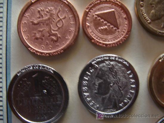 Reproducciones billetes y monedas: COLECCIÓN DE MÁS DE 40 REPRODUCCIONES DISTINTAS DE MONEDAS DE TODA EUROPA. - Foto 2 - 7116706