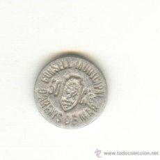 Reproducciones billetes y monedas: BONITA COPIA DE LOS 50 CÉNTIMOS DE ARENYS DE MAR BARCELONA. Lote 23637909