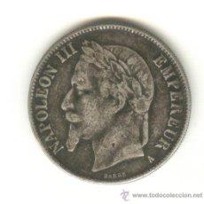 Reproducciones billetes y monedas: BONITA COPIA DE 5 FRANCOS DE NAPOLEON III DE FRANCIA FALSO FALSA DE ÉPOCA. Lote 25454501