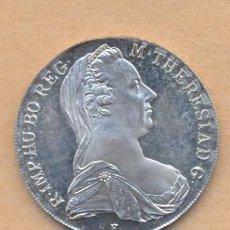 Reproducciones billetes y monedas: MONEDA 102 - ACUÑACION EN PLATA - M TERESA REG 1780 TALER. Lote 26893657