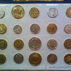 Reproducciones billetes y monedas: **** MONEDAS - DEL REAL A LA PESETA EN ORO Y PLATA (REPLICAS ORIGINALES) - FNMT - LEER DESCRIPCIÓN. Lote 27623596