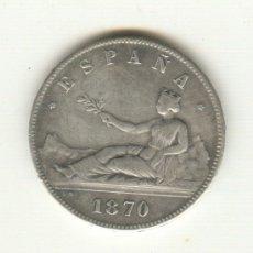 Reproducciones billetes y monedas: 12-BONITA COPIA DEL DURO DEL AÑO 1870 PRIMERA REPUBLICA MUJER SENTADA. Lote 27165069