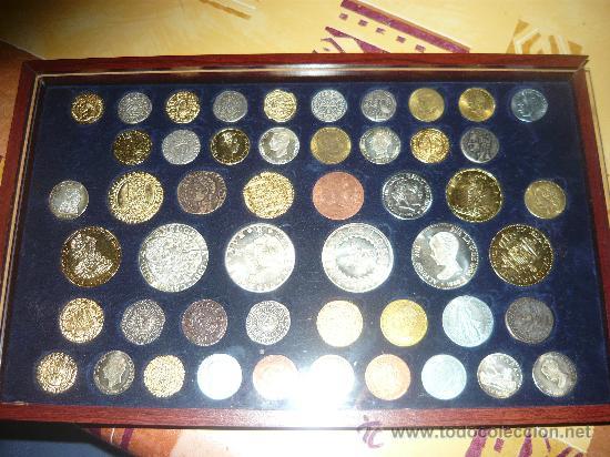 COLECCION DE MONEDAS (REPLICA) COMPLETA ESPAÑOLAS (Numismática - Reproducciones)