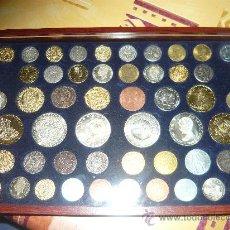 Reproducciones billetes y monedas: COLECCION DE MONEDAS (REPLICA) COMPLETA ESPAÑOLAS. Lote 33330043