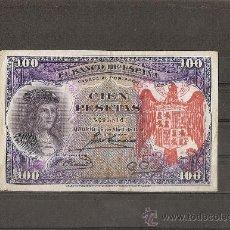 Reproductions billets et monnaies: 100 PESETAS 1931 RESELLO TAPON ROJO AGUILA IMPERIAL. Lote 120358739