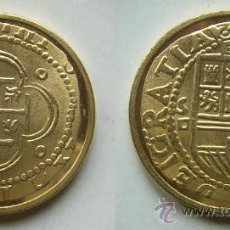 Reproducciones billetes y monedas: REPRODUCCION DE LA FNMT BAÑO DE ORO. Lote 26810316