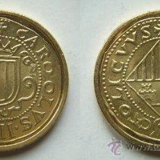 Reproducciones billetes y monedas: REPRODUCCION DE LA FNMT BAÑO DE ORO. Lote 26810330
