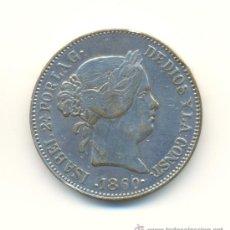 Reproducciones billetes y monedas: BONITOS 20 REALES DE ISABEL II AÑO 1860 CECA DE MADRID FALSAS CON PLATEADO ORIGINAL.. Lote 27645367
