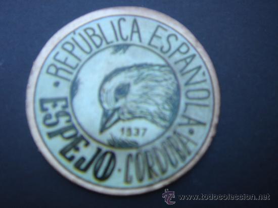 CARTÓN MONEDA LOCAL DE ESPEJO (CÓRDOBA) -TIMBRE MÓVIL-, CON SELLO 20 CTS II REPÚB. MBC+. 1937. (Numismática - Reproducciones)