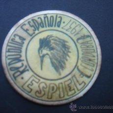 Reproducciones billetes y monedas: CARTÓN MONEDA LOCAL DE ESPIEL (CÓRDOBA) -TIMBRE MÓVIL-, CON SELLO 20 CTS II REPÚB. MBC+. 1937.. Lote 28142715