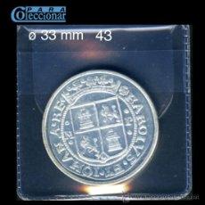 Reproducciones billetes y monedas: REPRODUCCIÓN - RÉPLICA - FNMT- F.M.N.T - / EL PAIS - COLECCIÓN DEL REAL A LA PESETA Ø 33 MM. Lote 28580917