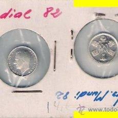 Reproducciones billetes y monedas: JUAN CARLOS I PEQUEÑA REPRODUCCIÓN DE LAS 100 PESETAS DEL MUNDIAL DE FÚTBOL DE 1982. SC. C319.. Lote 28826533