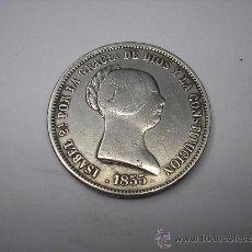 Reproducciones billetes y monedas: 20 REALES DE PLATA DE 1855.CECA DE MADRID. REINA ISABEL II. COPIA. Lote 31524722
