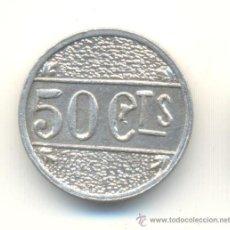 Reproducciones billetes y monedas: L' AMETLLA DEL VALLÉS BARCELONA BONITA COPIA DE LA RARA MONEDA DE 50 CÉNTIMOS. Lote 33286700