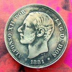 Reproducciones billetes y monedas: ALFONSO XII . 2 PESETAS 1881 . RÉPLICA. Lote 33402983