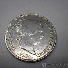 Reproducciones billetes y monedas: COPIA DE 20 REALES DE ISABEL II DE 1864. CECA DE MADRID. Lote 33949026