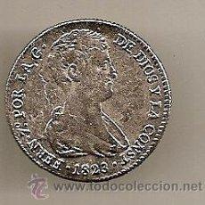 Reproducciones billetes y monedas: RÉPLICA DE MEDALLA DE FERNANDO VII: VALENCIA. 1823. Lote 33996127