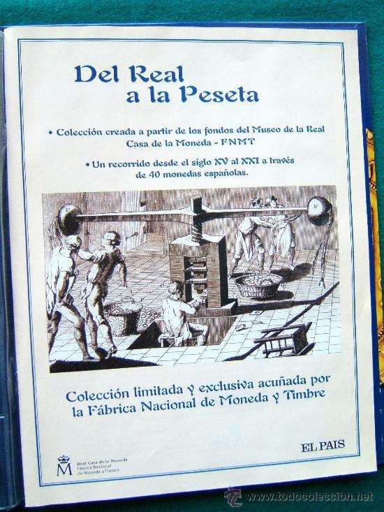 Reproducciones billetes y monedas: DEL REAL A LA PESETA-CON 40 REPRODUCCIONES DE MONEDAS ESPAÑOLAS-2002-1ª EDICION. - Foto 3 - 35232460
