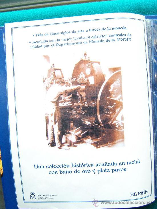 Reproducciones billetes y monedas: DEL REAL A LA PESETA-CON 40 REPRODUCCIONES DE MONEDAS ESPAÑOLAS-2002-1ª EDICION. - Foto 4 - 35232460
