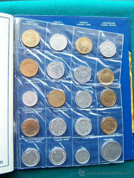 Reproducciones billetes y monedas: DEL REAL A LA PESETA-CON 40 REPRODUCCIONES DE MONEDAS ESPAÑOLAS-2002-1ª EDICION. - Foto 5 - 35232460