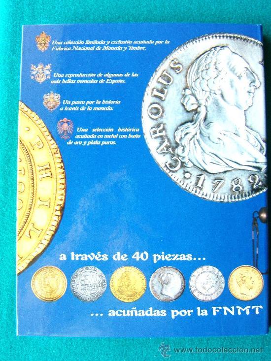 Reproducciones billetes y monedas: DEL REAL A LA PESETA-CON 40 REPRODUCCIONES DE MONEDAS ESPAÑOLAS-2002-1ª EDICION. - Foto 6 - 35232460
