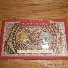 Reproducciones billetes y monedas: ESTUCHE DE COLECCIÓN / INVASIÓN DE BRITANIA / DENARIO CÉSAR Y ORO DE LOS CATUVELLAUNOS / FACSÍMIL. Lote 97193692