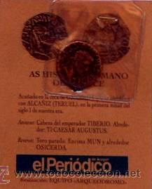 REPRODUCCION MONEDA AS HSIPANORROMANO DE BRONCE SIGLO I, MONEDAS ARAGONESAS, ALCAÑIZ (Numismática - Reproducciones)