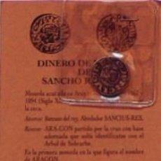 Reproducciones billetes y monedas: REPRODUCCION MONEDA DINERO DE VELLON DE SANCHO RAMIREZ SIGLO XI, MONEDAS ARAGONESAS. Lote 37982715