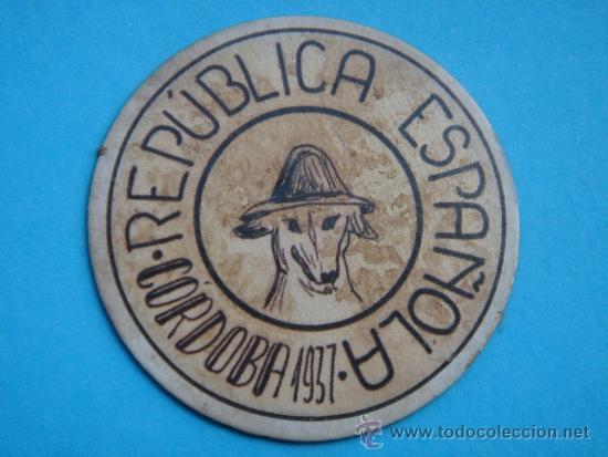 CARTÓN MONEDA LOCAL DE CÓRDOBA -TIMBRE MÓVIL-, CON SELLO 30 CTS II REPÚB. MBC+. 1937. (Numismática - Reproducciones)