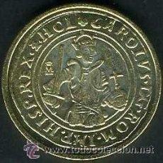 Reproducciones billetes y monedas: REPRODUCCIÓN DE MONEDA REAL DE ORO DE CARLOS I (SIN FECHA). COLECCIÓN EL PAÍS.. Lote 38975480