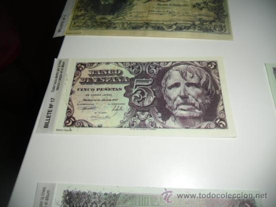 REPRODUCCION O FASCIMIL BANCO DE ESPAÑA 5 PESETAS 1947 (Numismática - Reproducciones)