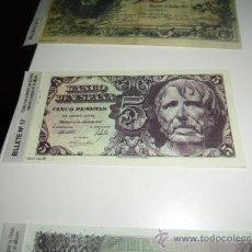 Reproducciones billetes y monedas: REPRODUCCION O FASCIMIL BANCO DE ESPAÑA 5 PESETAS 1947. Lote 38978188