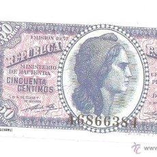 Reproducciones billetes y monedas: RÉPLICA BILLETE, REPÚBLICA ESPAÑOL, 50 CÉNTIMOS. Lote 39657985