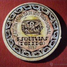 Reproducciones billetes y monedas: CARTÓN MONEDA DE USO PROVISIONAL - ESQUIVIAS -TOLEDO - 1937 - 40 CÉNTIMOS - REPUBLICA ESPAÑOLA. Lote 40419387