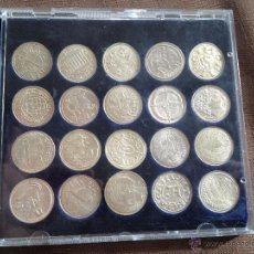 Reproducciones billetes y monedas: COLECCION 20 MONEDAS DE PLATA DE LA VANGUARDIA MONEDAS CATALANAS VER FOTOS ES LA MISMA. Lote 40847954