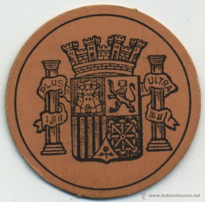 Reproducciones billetes y monedas: sello moneda de 10 céntimos. República Española. Cartón - Foto 2 - 41614845