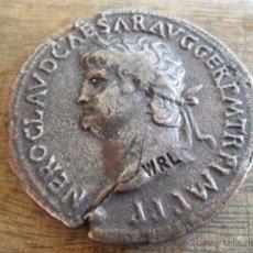 Reproducciones billetes y monedas: REPRODUCCION DE SEPTERCIO DE NERON. Lote 143730004