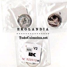 Reproducciones billetes y monedas: PRIMERA MONEDA DE 1 PESETA ESPAÑA. REPLICA, REPRODUCCION, PLATA 925. Lote 68984999