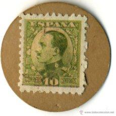 Reproducciones billetes y monedas: SELLO MONEDA DE CARTÓN DE 10 CÉNTIMOS. REPÚBLICA ESPAÑOLA. Lote 42757609