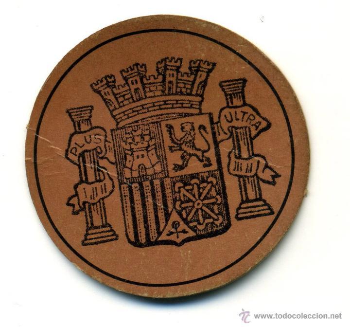 Reproducciones billetes y monedas: sello moneda de cartón de 10 céntimos. República Española - Foto 2 - 42757609