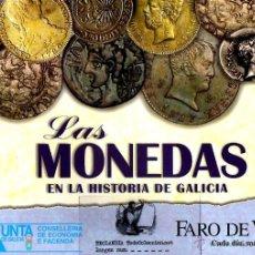 Reproducciones billetes y monedas: LAS MONEDAS EN LA HISTORIA DE GALICIA EKL REPLICA REPRODUCION FARO DE VIGO~ FALTA 1 MONEDA. Lote 187417157