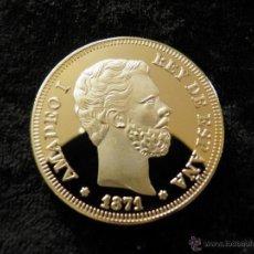 Reproducciones billetes y monedas: ESPAÑA 100 PESETAS 1871 AMADEO I. Lote 49405732