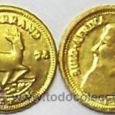Reproducciones billetes y monedas: MONEDA DE SUDAFRICA KRUGERRAND 1978 ( GACELA ) ORO CALIDAD HGE. MUY BONITA LEER Nº44. Lote 57660084